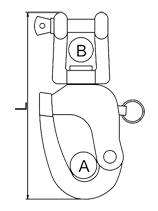 Swivel Snap Shackle With Jaw Drawing