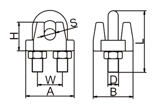 JIS Wire Rope Clip Drawing